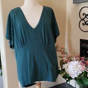 Womens Plus 3X Green Sweater
